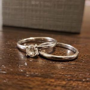 14kt White Gold Diamond Ring 0.5ct